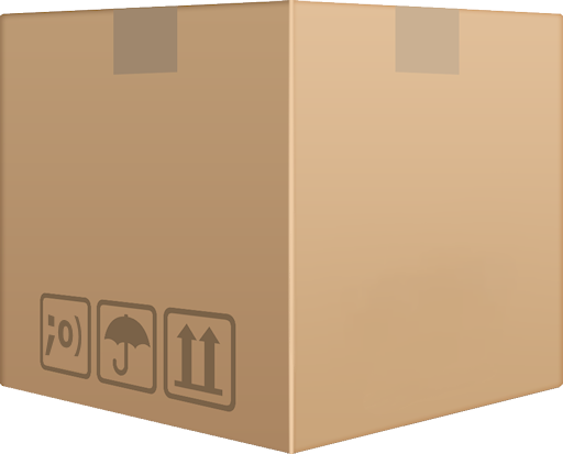 cardboard box for downloads - blank version