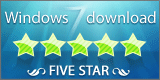 windows7download 5 star award logo