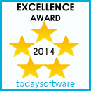 todaysoftware 5 star Excellence award
