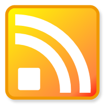 button image of an RSS logo, in orange.