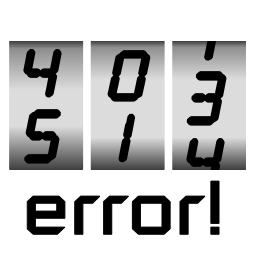 Active-Error-Pages icon/logo, a simple slot-wheel, the first showing digits 4 and 5, the second, 0 and 1, and the third, 1, 3 and 4, donating all the different error documents AEP can handle.