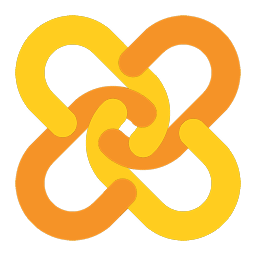 Auto-Hot-Link logo (two open chain-links in yellow and orange, set diagonally to form a cross) in 256 pixel size