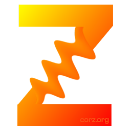 CorZipper logo - a big orange Z, reminiscent of the old zip icons of yore.