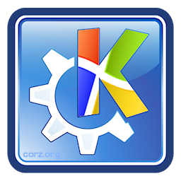 128 pixel size PNG image of KDE Mover-Sizer icon/logo; the famous KDE Krystal icon, the 'K' masked in with a windows flag, set at the perfect angle.