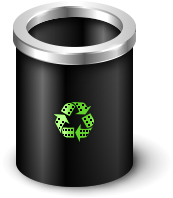Black Film Recycle Bin ffe G By Mazenl77